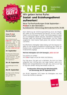 SuE-Info vom 14.09.2015