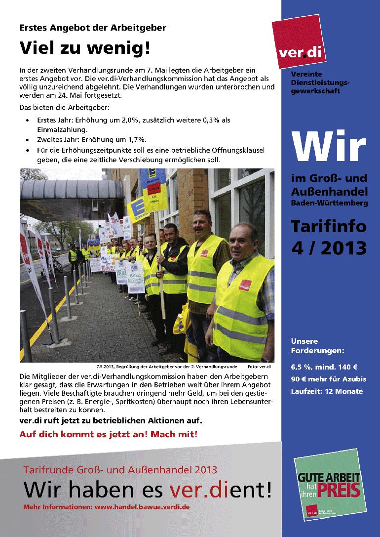 Tarifinfo (04/2013): Viel zu wenig!
