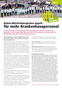 Baden-Württembergischer Appell für mehr Krankenhauspersonal