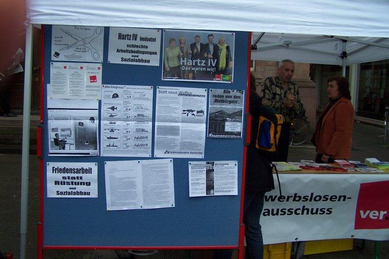 Aktionstag der Erwerbslosengruppe