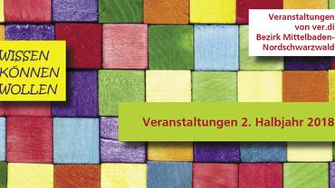 Seminarkalender 2. Halbjahr 2018