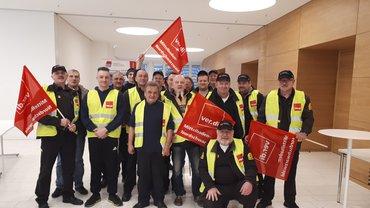 Streik bei Prosegur Ettlingen am 02.01.2018