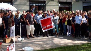 Warnstreik beim SWR in Baden-Baden