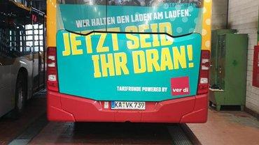 Erster Warnstreik im ÖPNV in Karlsruhe und Baden-Baden am 25.09.2020