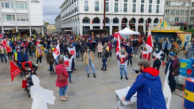 JETZT SIND WIR DRAN! Streik am 08.10.2020 in Karlsruhe