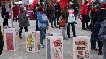 ver.di Frauen am 1. Mai in Karlsruhe